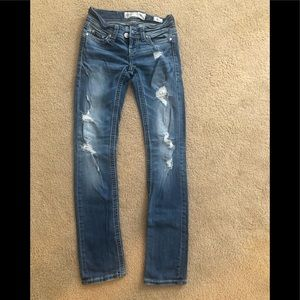 Distressed bke jeans